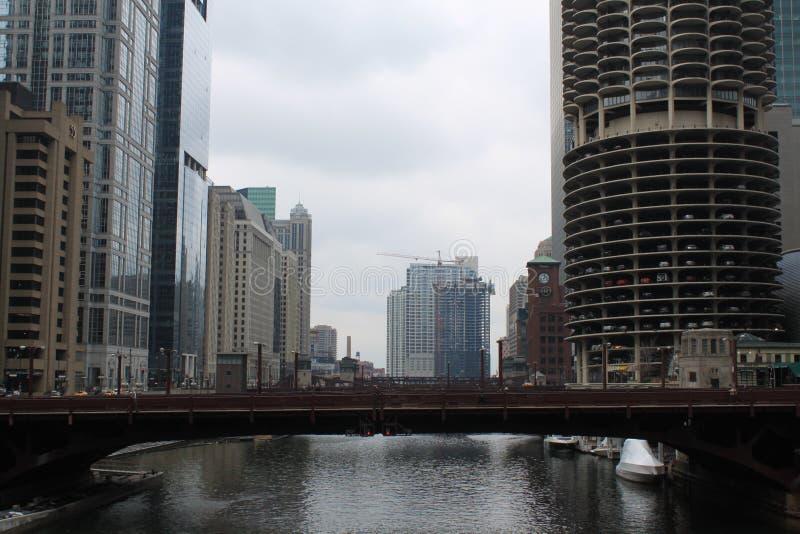 El río Chicago fotografía de archivo libre de regalías