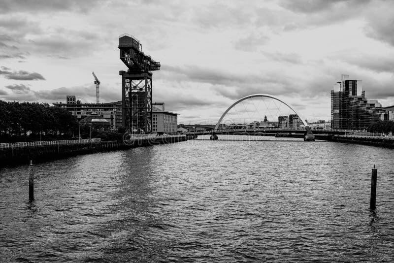El río Clyde, Glasgow fotos de archivo libres de regalías