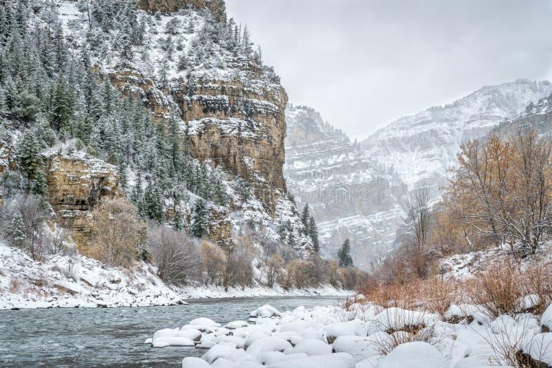 El río Colorado en el barranco de Glenwood fotografía de archivo libre de regalías