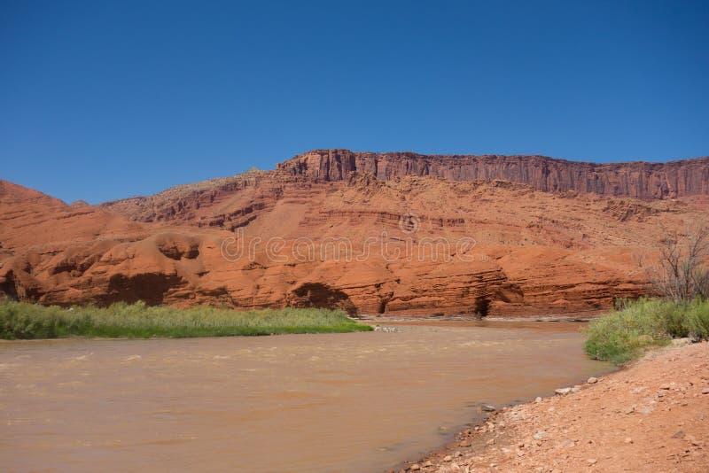 El río Colorado en Utah foto de archivo