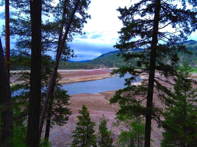 El río Columbia foto de archivo