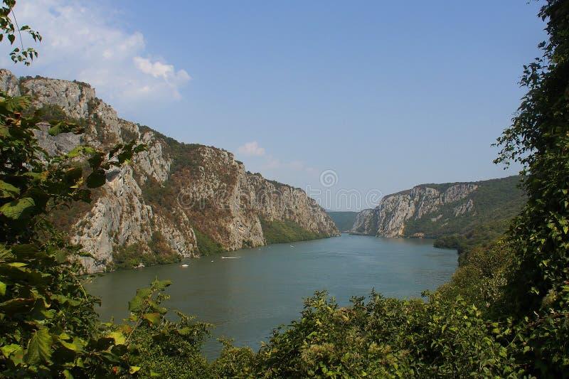 El río Danubio en Rumania fotografía de archivo libre de regalías