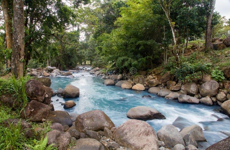 El río de Celeste en Costa Rica foto de archivo