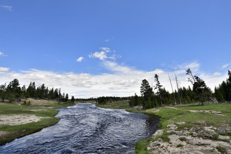 El río de Firehole en Yellowstone fotos de archivo libres de regalías