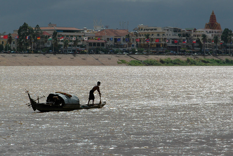 El río de Mekong fotos de archivo libres de regalías