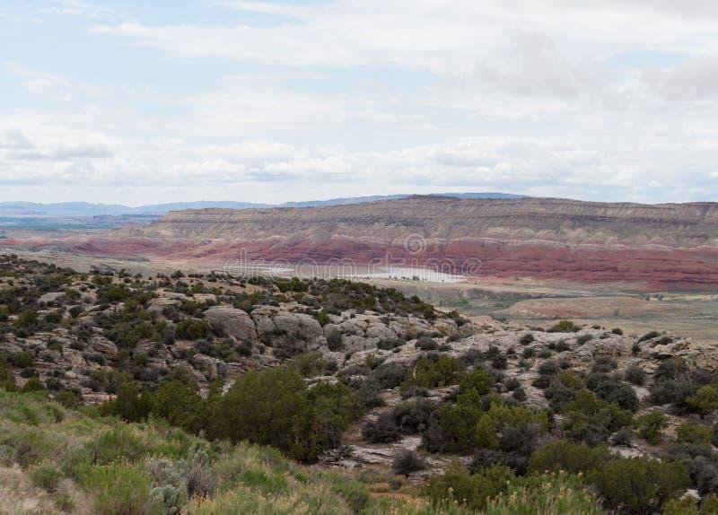 El río del Shoshone cerca del barranco del Bighorn fotografía de archivo