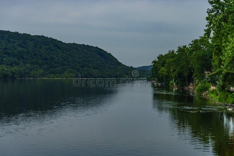 El río Delaware en el verano de la nueva esperanza histórica, PA foto de archivo libre de regalías
