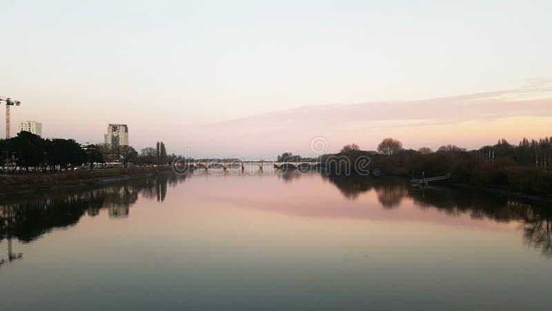 El río francés foto de archivo