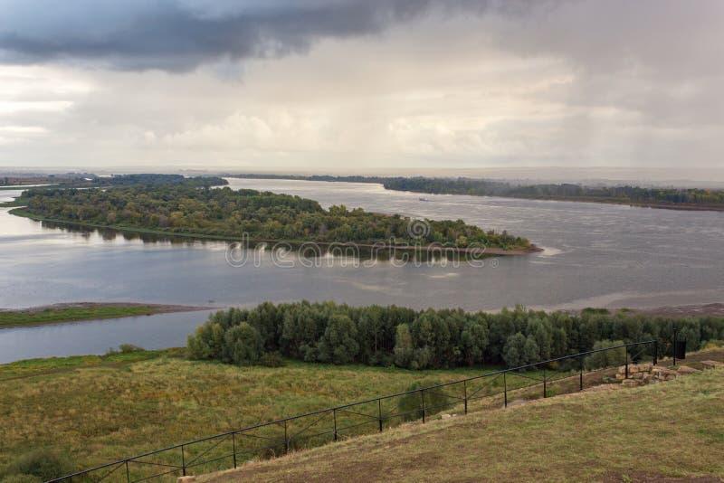 El río Kama fotos de archivo libres de regalías