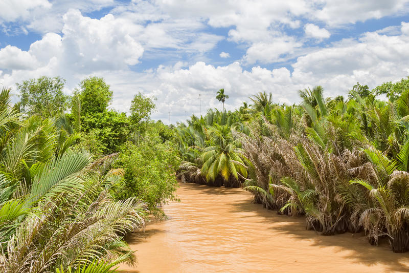 El río Mekong imagen de archivo