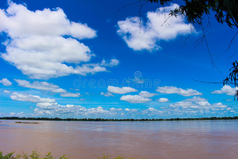 El río Mekong foto de archivo libre de regalías