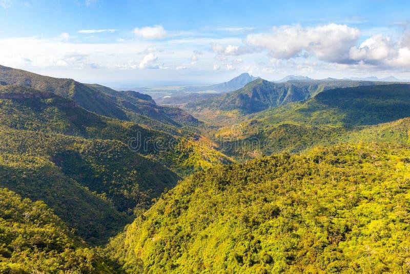 El río negro Gorges el parque nacional en Mauricio fotos de archivo libres de regalías