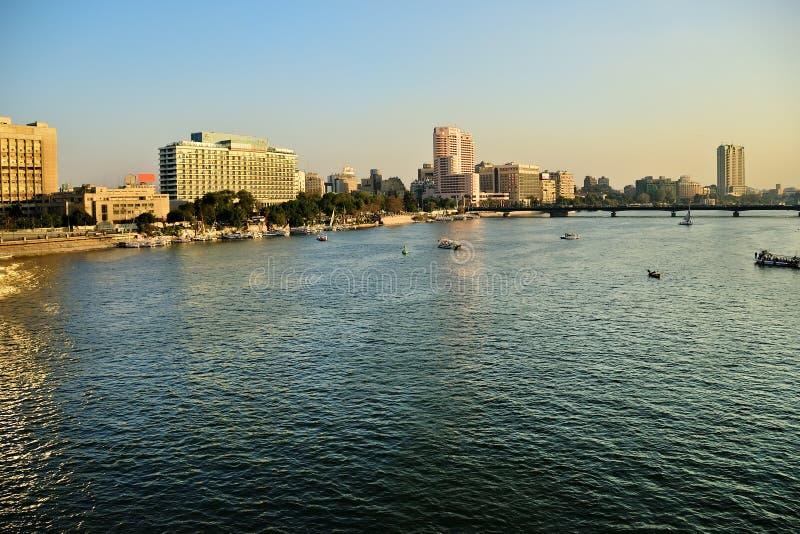 El río Nilo en El Cairo, Egipto fotografía de archivo