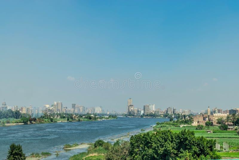 El río Nilo en El Cairo, Egipto imagen de archivo