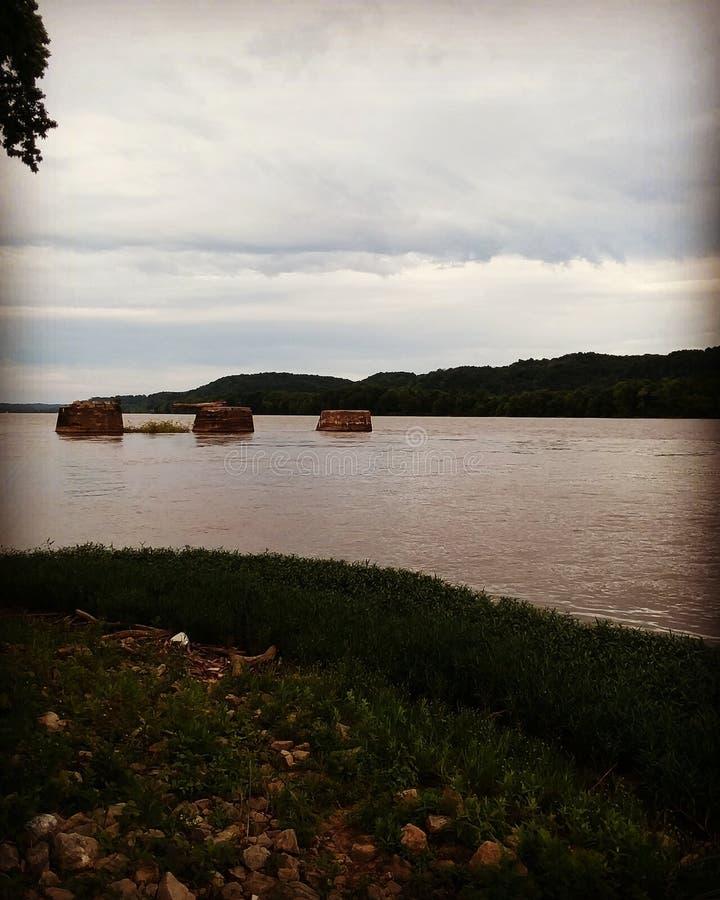 El río Ohio poderoso foto de archivo libre de regalías