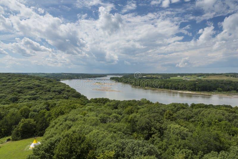 El río Platte escénico imagenes de archivo