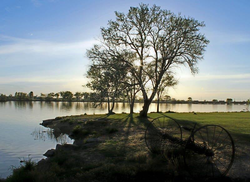 El río Snake, Burley Idaho imágenes de archivo libres de regalías