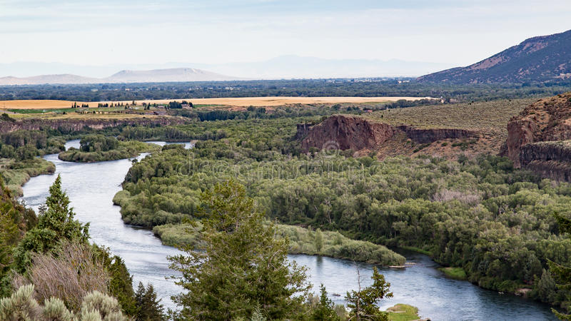 El río Snake en Idaho fotos de archivo