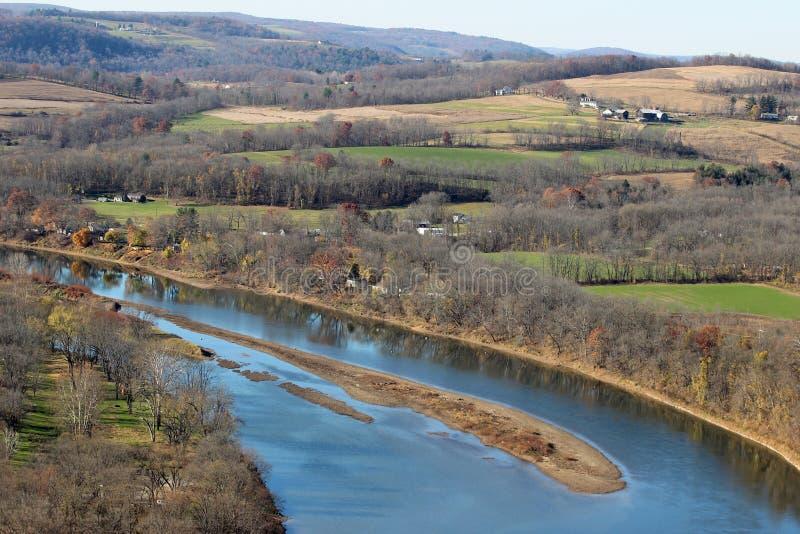 El río Susquehanna y granja imágenes de archivo libres de regalías