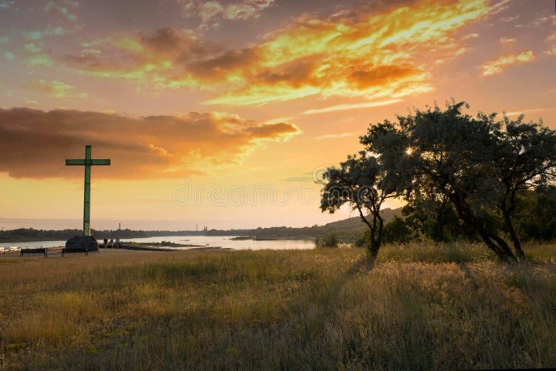El río Vistula cerca de la presa en Wloclawek - Polonia fotos de archivo libres de regalías