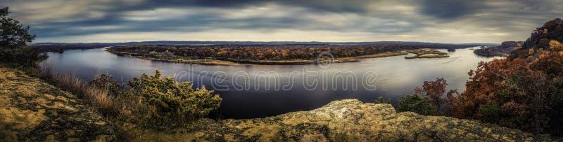 El río Wisconsin fotos de archivo libres de regalías