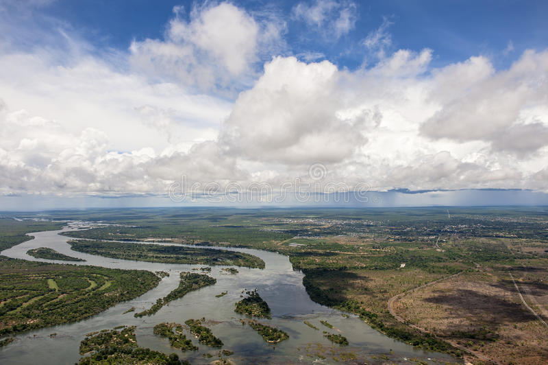 El río Zambezi imagen de archivo