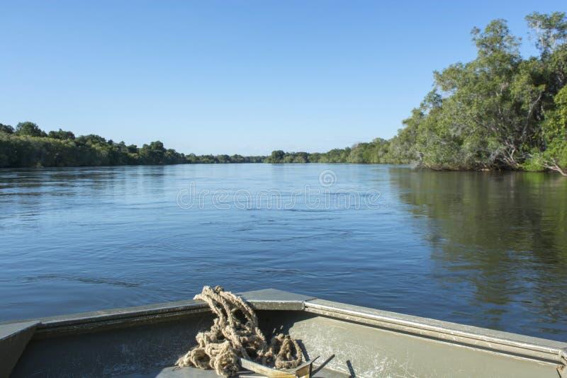 El río Zambezi fotografía de archivo