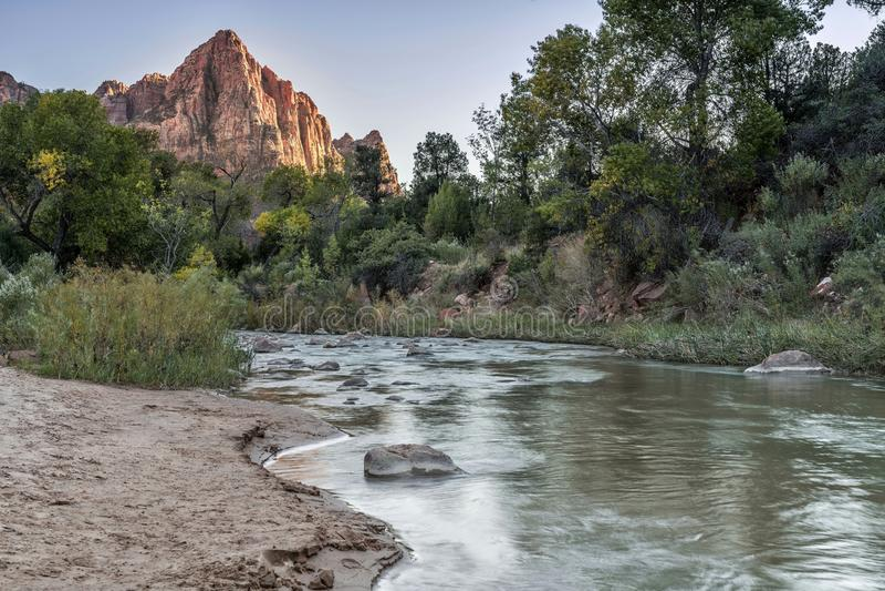El río Zion fotografía de archivo libre de regalías