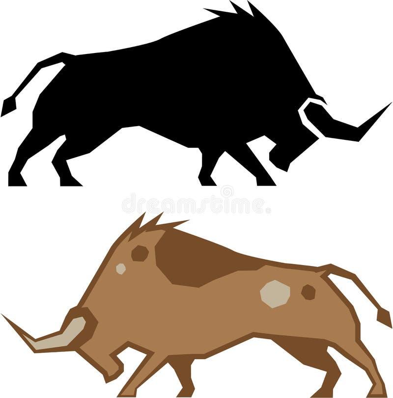 El rabiar Bull libre illustration