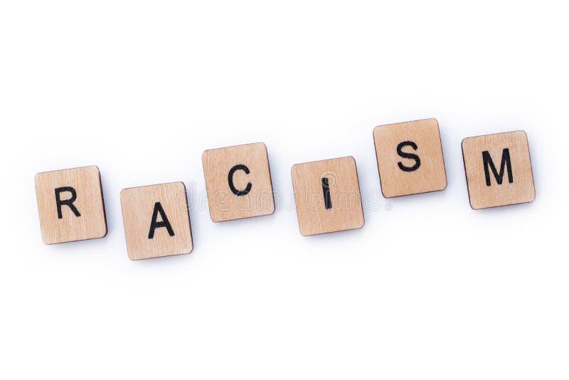 El racismo de la palabra fotos de archivo libres de regalías