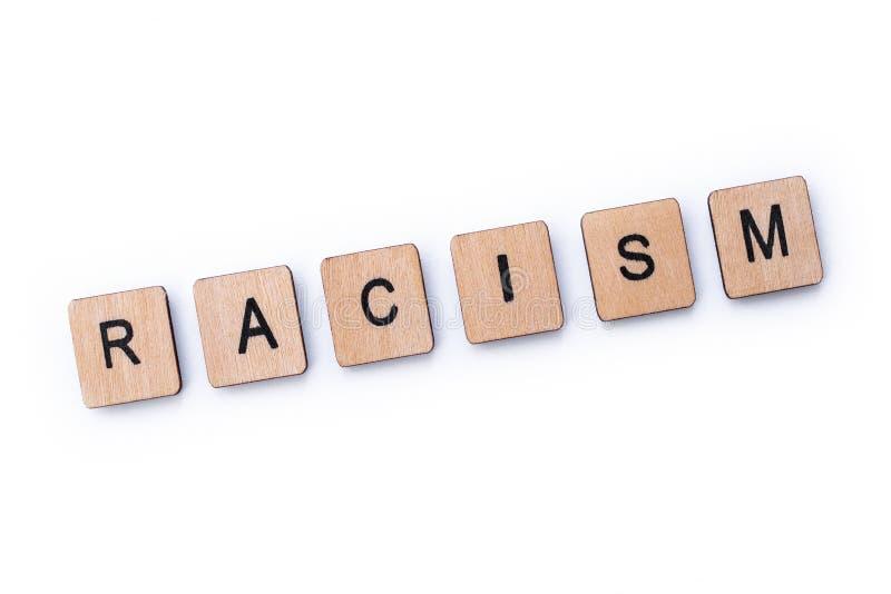 El racismo de la palabra imagenes de archivo