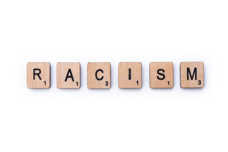 El racismo de la palabra imagen de archivo