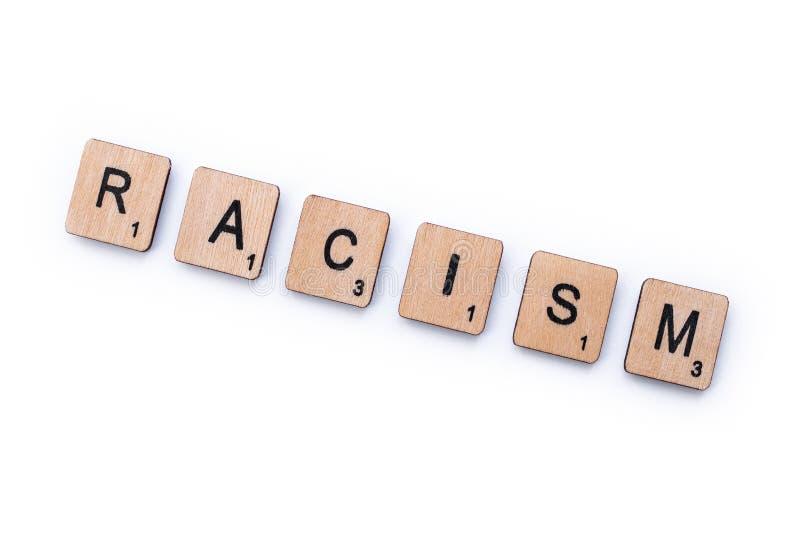 El racismo de la palabra foto de archivo