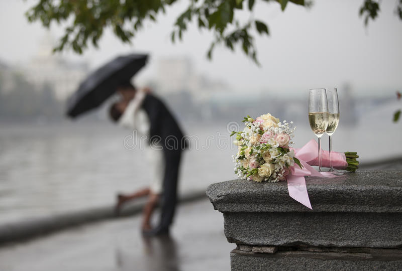 El ramo de la novia foto de archivo
