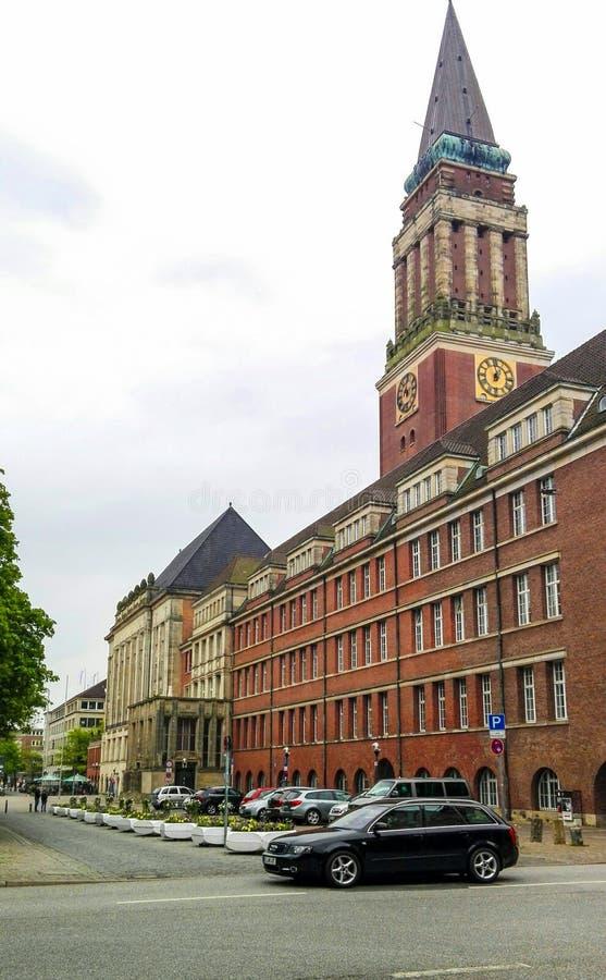El Rathaus en Kiel fotos de archivo libres de regalías