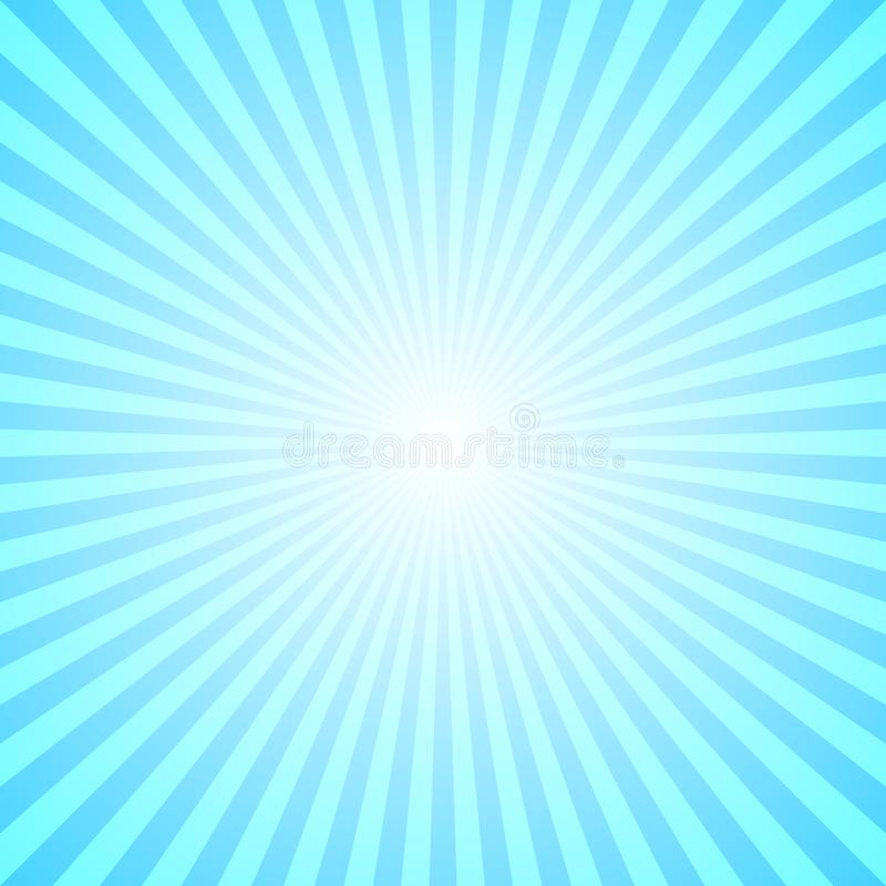 El rayo abstracto de la pendiente estalló el fondo - gráfico cómico con el modelo radial de la raya stock de ilustración