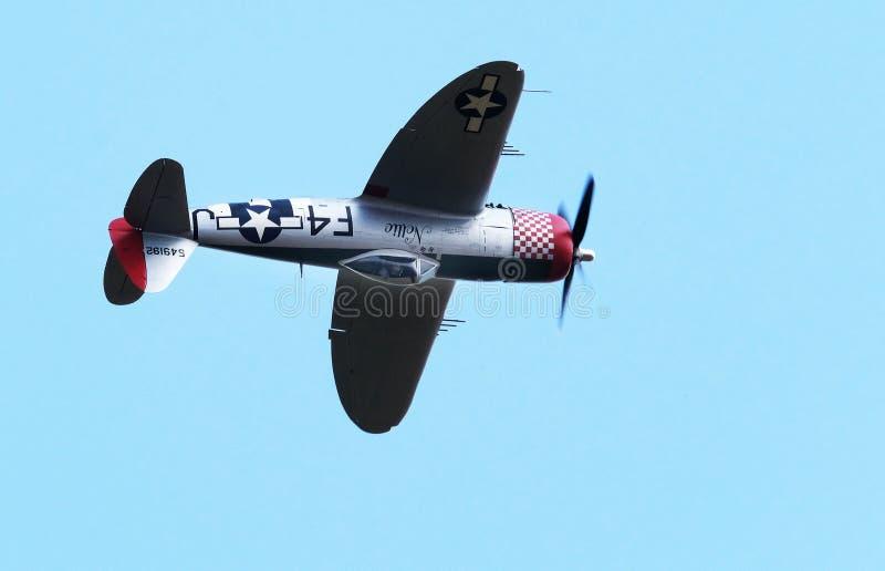 El rayo de la república P-47 era un avión de combate de la era de la Segunda Guerra Mundial producido por los Estados Unidos fotografía de archivo
