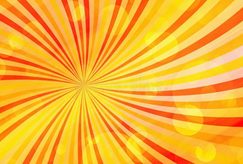 El rayo de sol burbujea los fondos del verano libre illustration