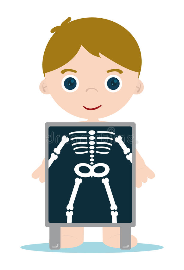 El rayo X deshuesa al cabrito ilustración del vector