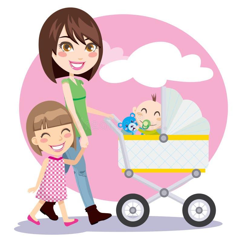 El recorrer de la madre stock de ilustración