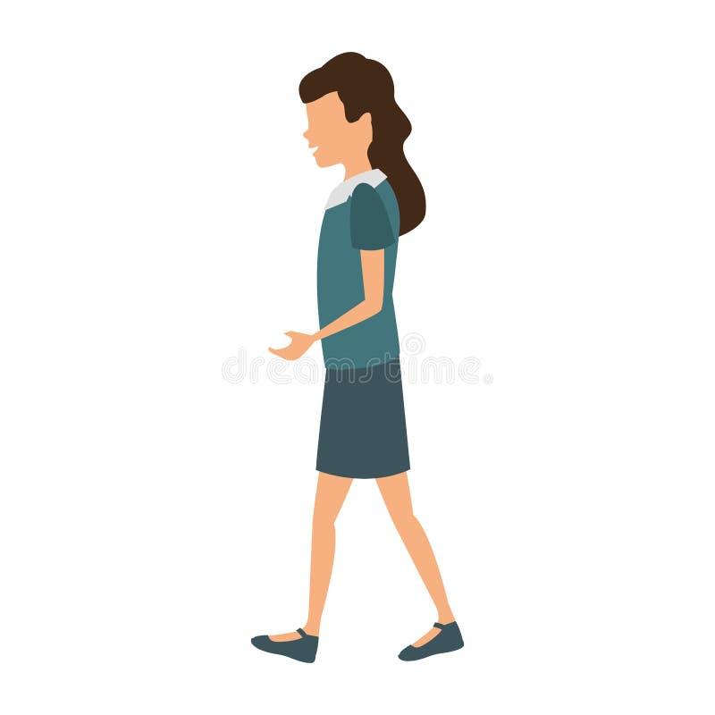 El recorrer de la mujer joven libre illustration