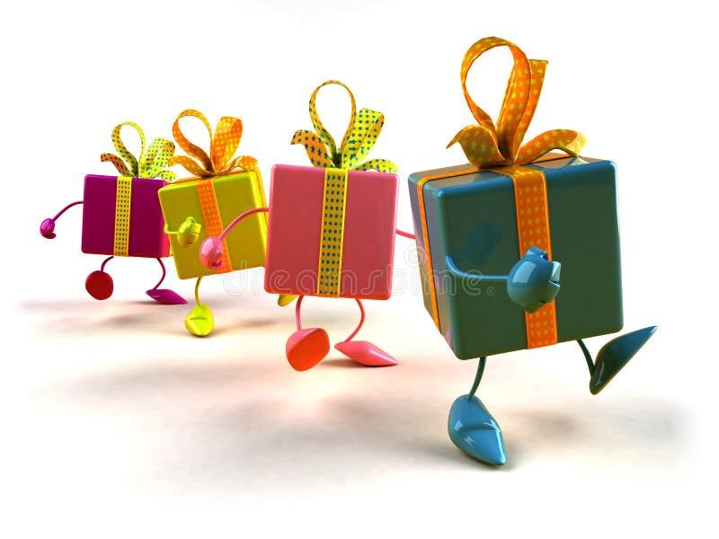 El recorrer de los regalos libre illustration