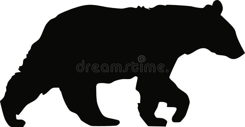 El recorrer del oso negro ilustración del vector