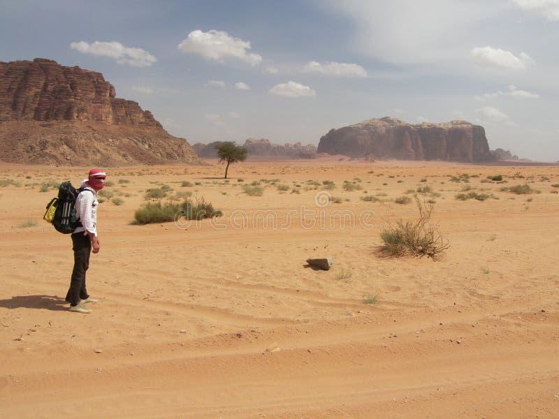 El recorrer en desierto foto de archivo