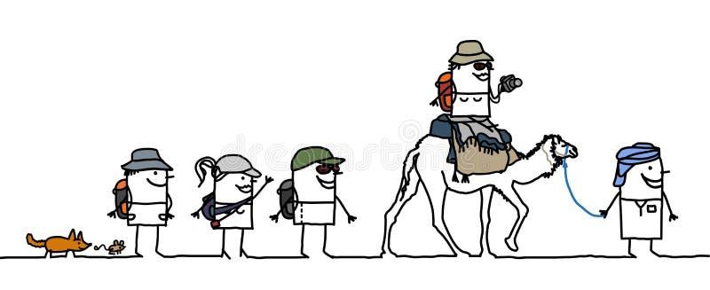 El recorrer en el desierto ilustración del vector