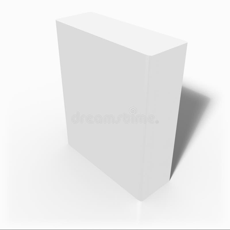 El rectángulo en blanco 3d ilustración del vector