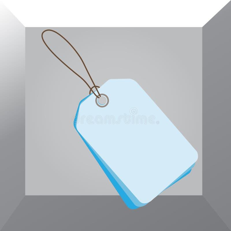 El rectángulo formó la etiqueta sujetada por la secuencia negra en fondo colorido La pequeña insignia vacía diagonalmente colocó  stock de ilustración
