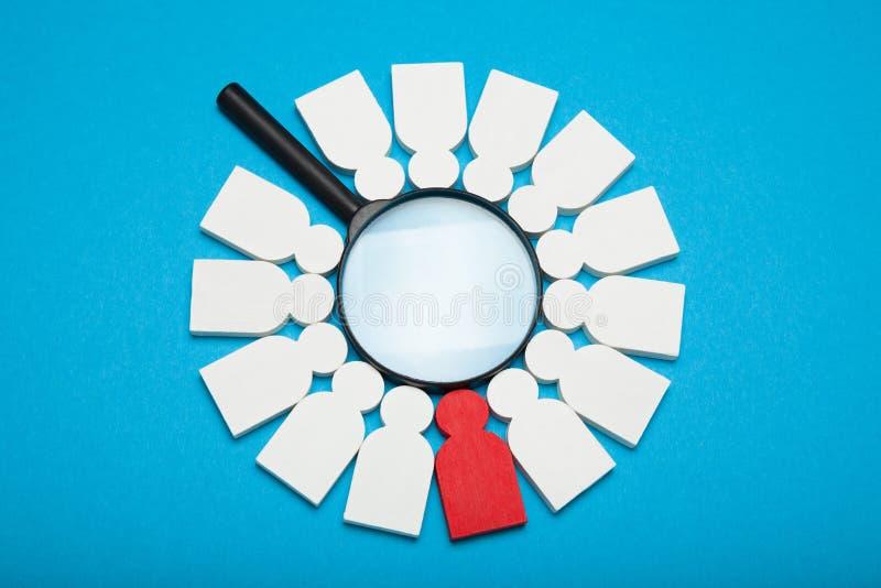 El recurso correcto del talento, humano selecciona Hallazgo de la compañía, búsqueda, mejor gente de alquiler fotografía de archivo libre de regalías