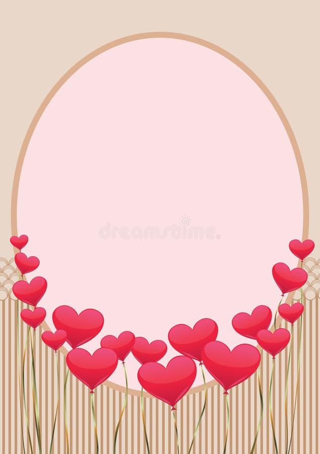 El regalo con los corazones verticales se calienta fotografía de archivo libre de regalías