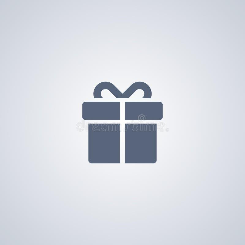 El regalo, presente, vector el mejor icono plano ilustración del vector